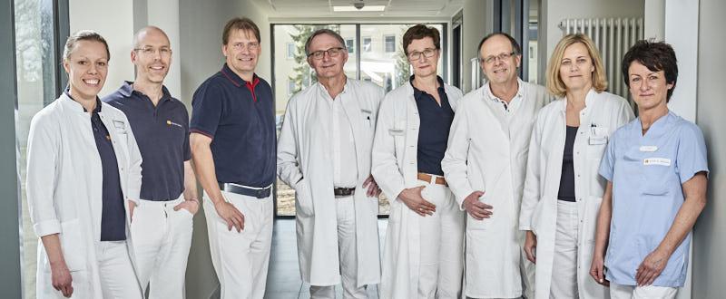 vlnr: Dr. Dörte Ludwig, Fabian Böckel, Stefan Bergeest, Dr. Jörg Strache, Dr. Christiane Herzberg-Nissen, Dr. Winfried Heinius, Dr. Frauke Karsten, J. Vogler (MTRA)